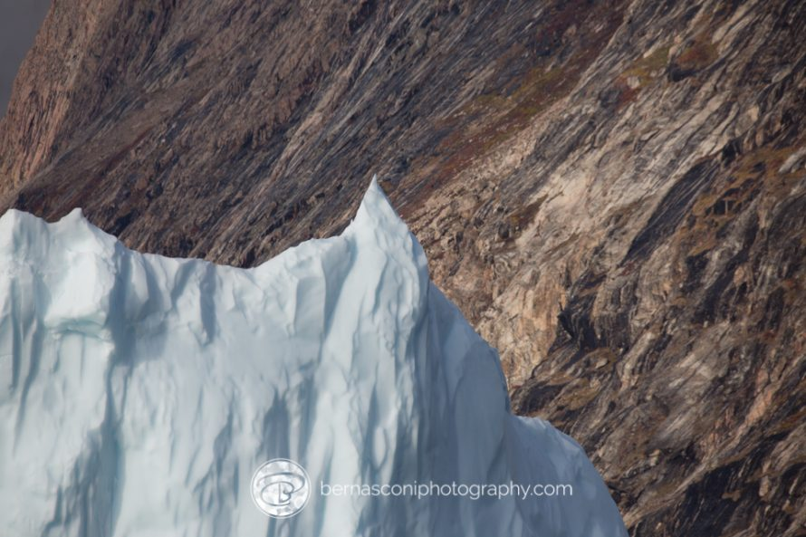 Here's an iceberg in Greenland. Taken from a moving zodiac. Focal length 600mm. F11 1/2000 sec ISO 640.